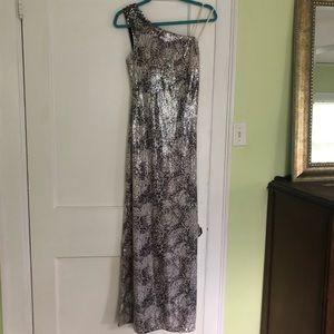 NWT Caché Dress snakeskin gown